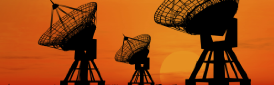 Photo of Telecom Dishes at sunset