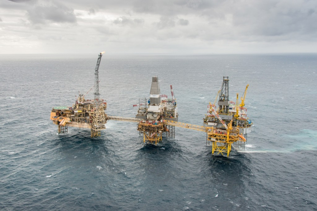 Photo of Total's Elgin Franklin Offshore Development