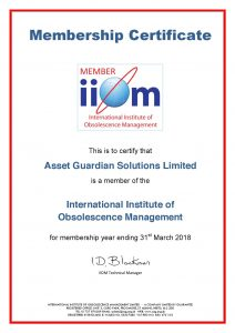 Asset Guardian Solutions Limited Announces Membership with the International Institute of Obsolescence Management (IIOM)