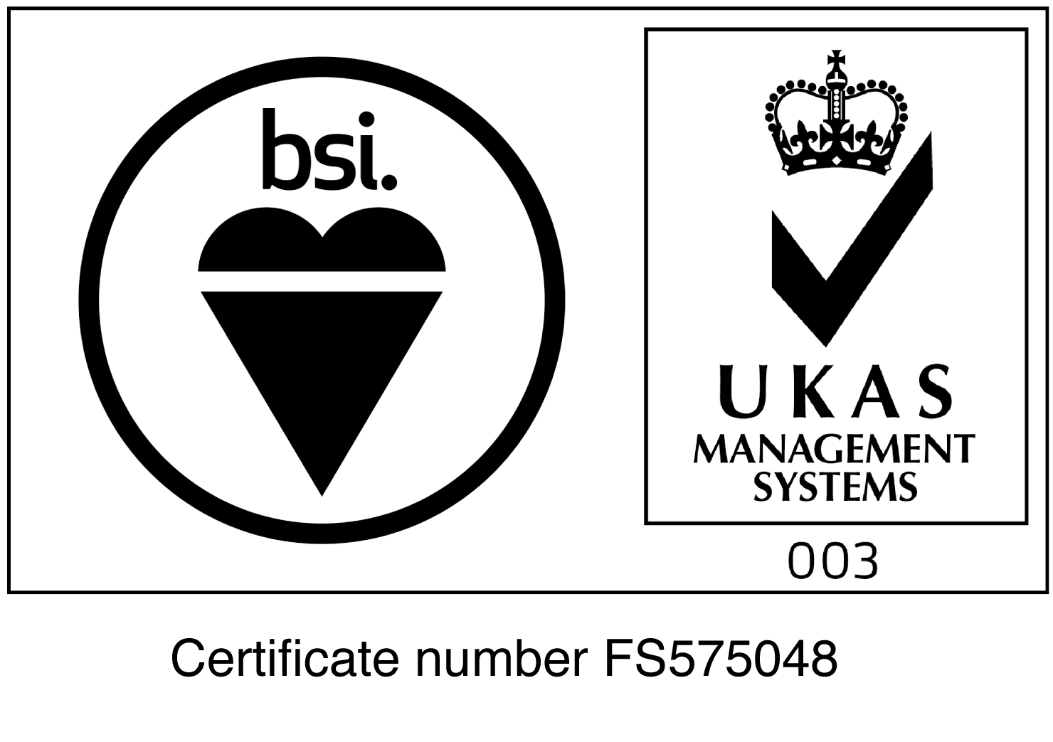 British Standards Institute Accreditation Logo