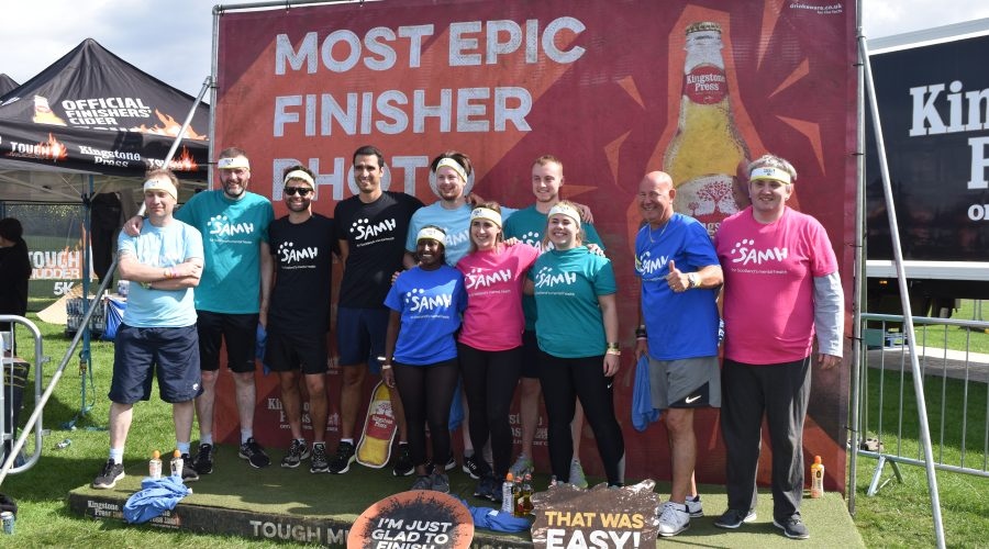 Mud Buds successfully complete the Edinburgh Tough Mudder 5k in aid of SAMH (Scottish Association for Mental Health)