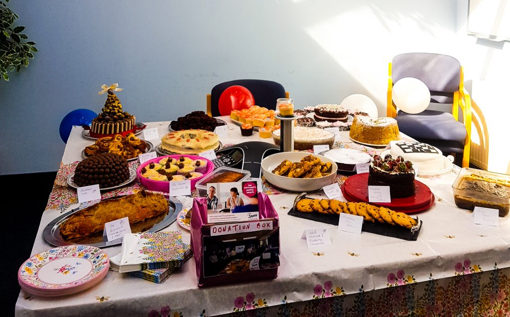 AGSL raise funds for SAMH by having Charity Bake Off